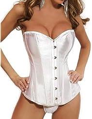 E-Girl brève conception corset bustier,blanche