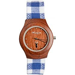 The Time Wood Peacock Sarah and Costume Bracelet Classic Women's Watch PF01 _ BA0401