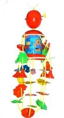 PLAY DESIGN Musical Merry Go Round Toy (Joomer) with Soothing Sound for Kids (MULTI COLOR)  available at amazon for Rs.239