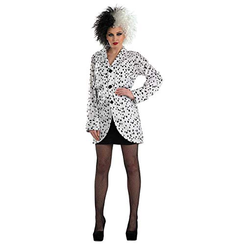 Kostüm Vil Cruella De Kind - LADIES DALMATIAN JACKET