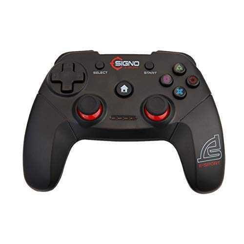 Signo USB 2.0 Gaming Controller Plug Play Gamepad Joystick für PC/Laptop (Windows XP/7/8/10) & PS3 & Android & Steam schwarz GP-680