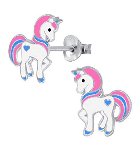 LRP-Cutie Niños Pendientes Unicornio Plata ley