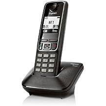 Gigaset A420 - Teléfono fijo inalámbrico, color negro