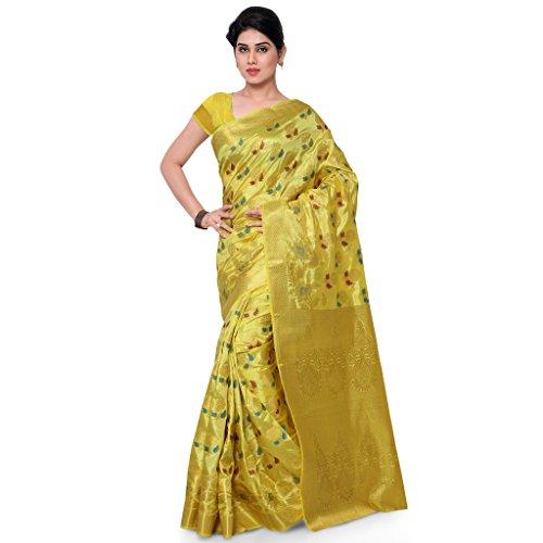 Varkala Silk Sarees Women's Art Silk Banarasi Saree With Blouse Piece(ND1017LM_Magenta_Free Size)