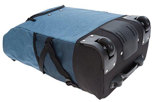 2er SET: PUNTA WHEEL Einkaufstrolley Einkaufsroller + Faltschopper [AUSWAHL] MEALNGE Blau 10183-5300