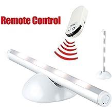 Infrarrojos-mando a distancia LED-tiras, 3 modo Wireless-luz nocturna, 4 LED 40 lumens noche/lámpara de mesa, que funciona con pilas para parte inferior-iluminación