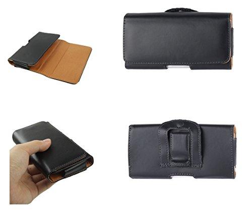 DFV mobile - Case belt clip synthetic leather horizontal smooth for > lenovo a630, color black A630 Belt