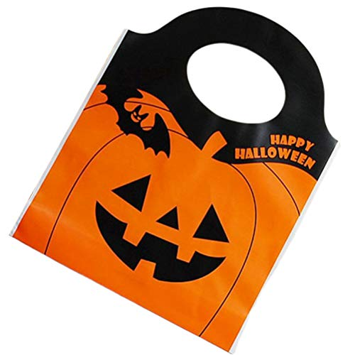 Halloween Treat Taschen Halloween Favor Boxen Trick or Treat Taschen Halloween Goody Taschen Halloween Party Favors 15,5x19,5 cm (orange) ()