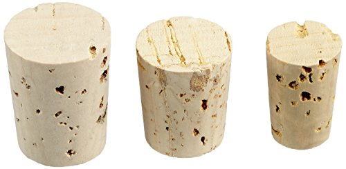 RAYHER Spitzkorken für Flacons und Flaschen, Beutel mit 36 Stück in 3 verschiedenen Größen