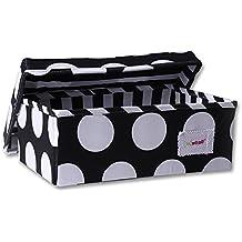 Minene–Caja de almacenaje (tamaño pequeño, negro con grande blanco puntos)