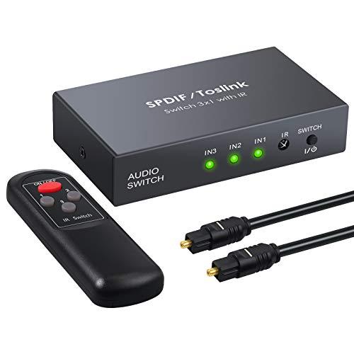 Conmutador Audio Digital 3 Entradas 1 Salida Switch