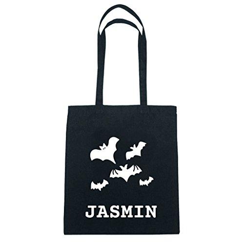 JOllify Baumwolltasche Halloween für JASMIN - Fledermäuse