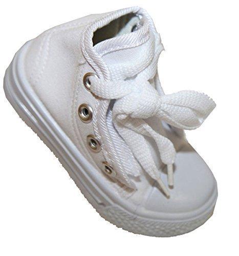 Kinder Unisex Baby Jungs Mädchen Betrag Leinwand, Stone, cedric mit Schnürung White