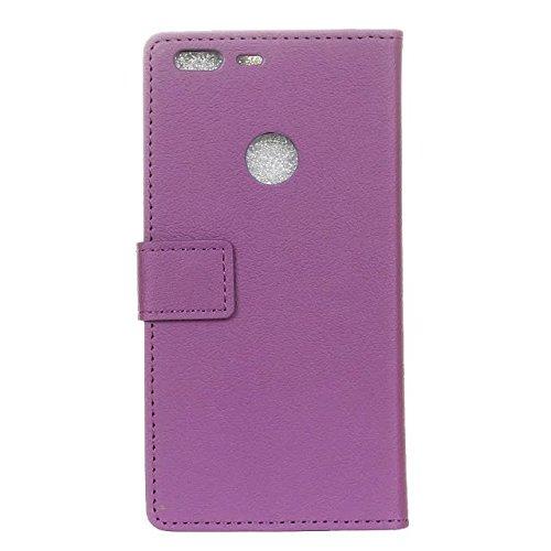 Kas Texture Pattern Horizontal Flip Stand Case Solide Farbe Leder Tasche mit Karte Cash Slots für Google Pixel XL ( Color : Pink , Size : Google Pixel XL ) Purple