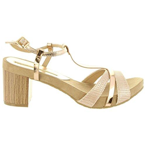 Sandalias de Mujer MARIA MARE 66985 C38923 Oro Rosa Talla 40
