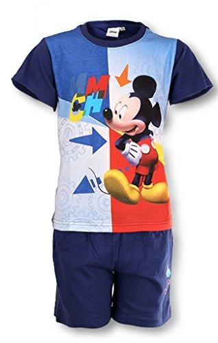 Offizielle Jungen Mickey Mouse Short Pyjama 3-8 Jahre (Pyjamas Mickey-mouse-baumwolle)