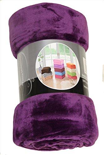 ForenTex - Manta de sedalina, (LI-130 MORADO), Ultra suave, microseda, para abrigarte con estilo y confort, 130 x 160 cm, 650 g. No suelta pelo. Para sofá y cama. 1-4 mantas paga solo un envío, descuento equivalente antes de finalizar la compra.