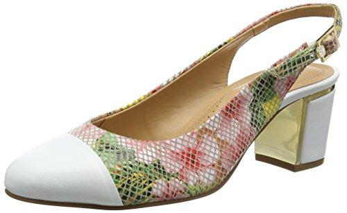 Van Dal Damen Tilly Sling Backs Mehrfarbig (white/tropical Floral)