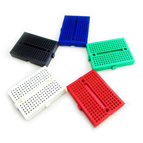 HiLetgo 5pcs SYB-170 SYB170 Mini Breadboard Colorful Breadboard Prototype Board Small Plates