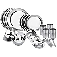 King International -Stainless steel dinner set of 24 pcs(Glass, Curry
