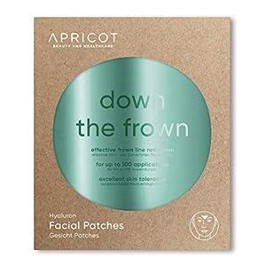APRICOT SKIN® Facial Patches/Parches antiarrugas faciales ¡Un método suave y duradero para la reducción de arrugas! 100 parches para la línea del entrecejo/frente