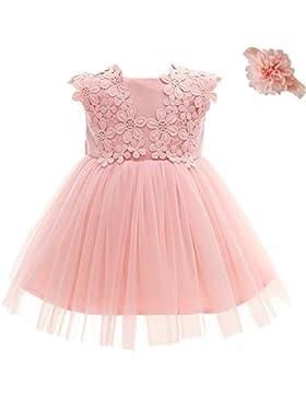 Dream Rover AHAHA Baby Mädchen Prinzessin Kleid Blumenmädchenkleid Taufkleid Festlich Kleid Hochzeit Partykleid...