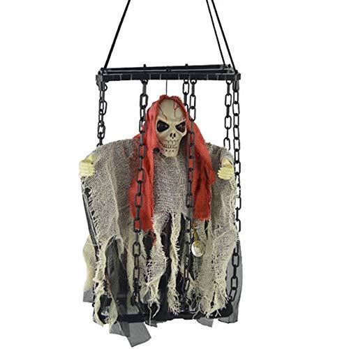PowerBH lustige Halloween glühende Geister Käfig Familie Party hängende Dekoration Zombie Requisiten Spaß Urlaub Dekoration