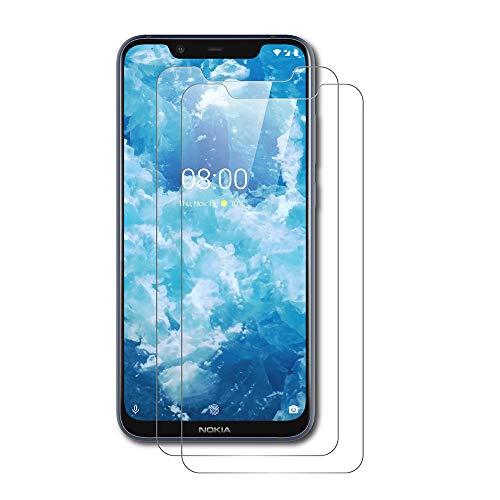 AICEK [2 Pack] Nokia 8.1 Pellicola Protettiva, Nokia 8.1 Screen Protector Toccare Pellicola Protettiva in Vetro temperato per Nokia 8.1 Vetro Trasparenza (6.18 Pollici)