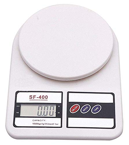 HAPPY TECH Electronic Kitchen Digital Weighing Scale, Multipurpose (White, 10 Kg)