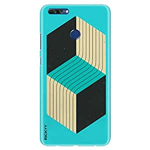 RICKYY Huawei Honor 8 Pro case, light weight, 360 degree protection, designer printed hard case cover, slim fit, 2017 mobile premium quality, matte finish back case cover for Honor 8 Pro (RD 1300)