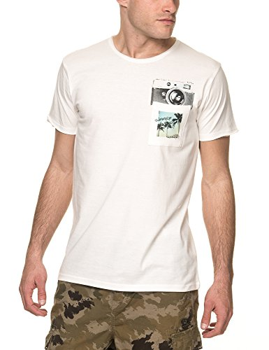 Sublevel Uomo Maglieria / T-shirt Summer Vibes Only Bianco