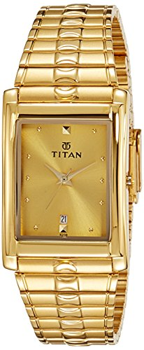41Bgz8koPNL - Titan NE9154YM02J Karishma Gold Mens watch