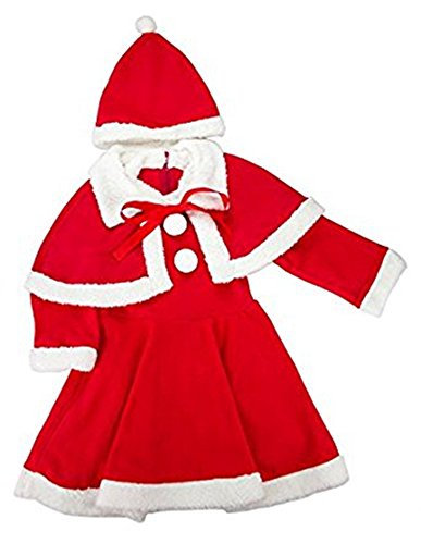 Theme My Party Santa Clause Dress For Girls (1-3 Years)
