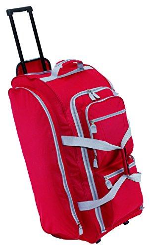 Trolley Reisetasche Rot 3 Reißverschluss Vorfächer & Gleitschienen für Treppen Trolleytasche Größe 75 x 30,5 x 33cm 2,8kg