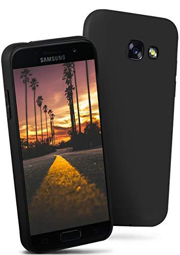 ONEFLOW® Flex-Fit Slimcase [SlimShield PRO] passend für Samsung Galaxy A5 (2017)   Dünn und griffig - Flexible Mischung aus Silikon und TPU, Schwarz - Dünne Mischung
