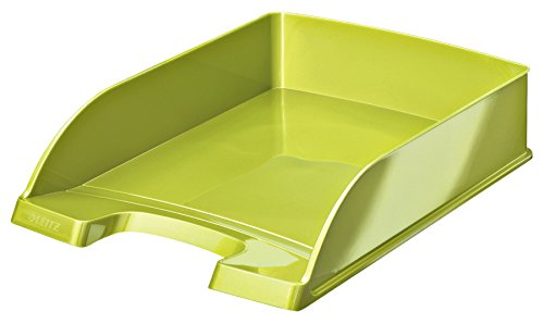Leitz WOW Vaschetta Portacorrispondenza Plus, Formato A4, Polistirene, Verde Metallizzato, 52263064