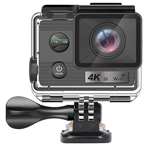 TCpick 4K-HD-Außenreitsport Kameras, High-End Ultra-Dünne Wasserdichter Sport Tauchen DV-Kamera Bewegung WiFi,Schwarz