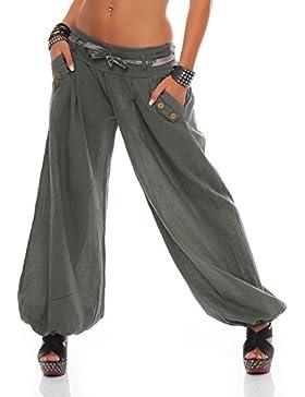 ZARMEXX Señoras bloomers el harem pantalones del verano de los pantalones de harén pantalones de algodón holgados...