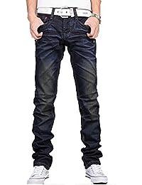 Newfacelook Hommes Jeans Mode Denim Men Pantalon Blue F002