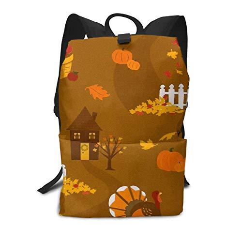 Happy Thanksgiving Backpack Middle für Kinder Jugendliche Schulreisetasche -