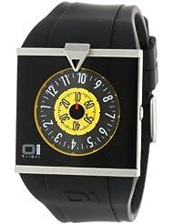 Binary THE ONE Spinning Wheel AN04G02 - Reloj de mujer de cuarzo, correa de goma color negro