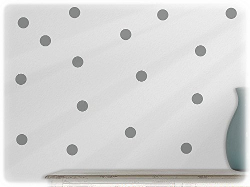 wandfabrik - Wandtattoo - 54 hochwertige Polka dots in mittelgrau
