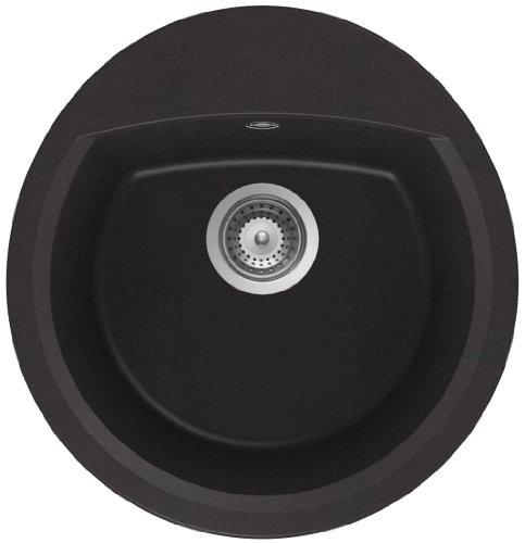 Schock Manhatten R100, Lavello ad incasso soprapiano, colore Nero, MANR100AGNE