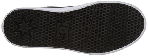DC Trase TX SE Skate Shoe (Little Kid/Big Kid), Black Wash, 3.5 M US Big Kid Black/Red Plaid