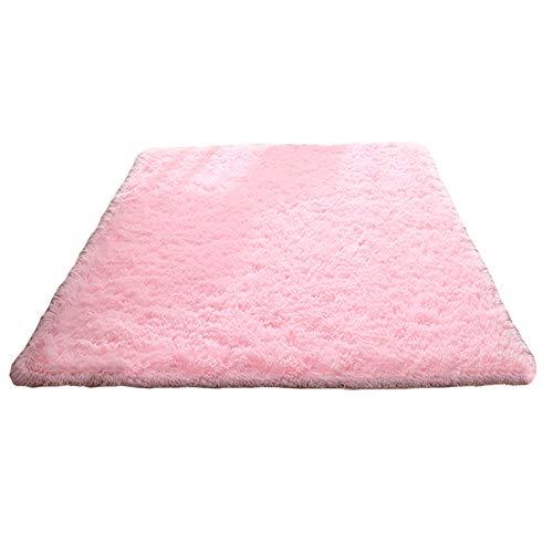 Tappeto anti-arriccia-tappeto di seta, moquette del sofà del tavolo da salotto della camera da letto del salotto, 1.6m * 2.3m congming (colore : pink, dimensioni : 0.8m*1.6m)