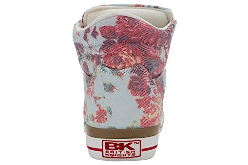 British Knights Dee, Baskets hautes femme blanc- rouge