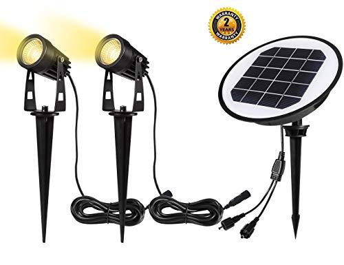 Gartenleuchte Solar   B-right Solarleuchten, LED Gartenbeleuchtung Solar, Gartenstrahler Solar, warmweiß, Wasserdicht LED Solarlampe, Solar Außenleuchte, Gartenlampe, Wegeleuchte, Spotbeleuchtung