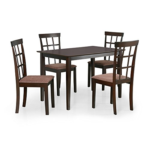 @home by Nilkamal Trivia Four Seater Dining Table Set (Cappuccino)  available at amazon for Rs.12500