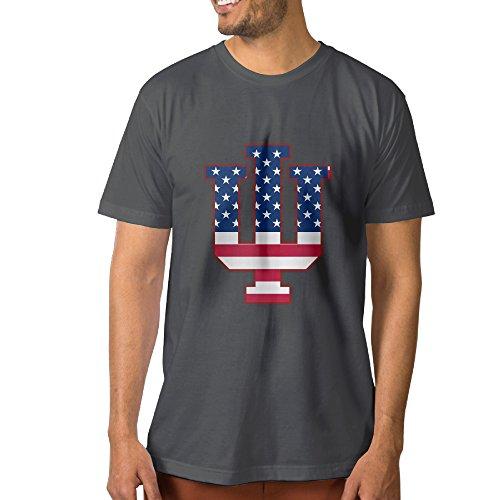Ncky fashions nckg maglietta a maniche corte della bandiera indiana ui university bloomington shirti,