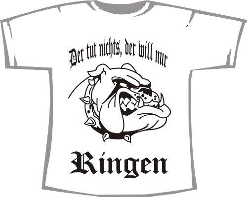 Der TUT Nichts, der Will nur Ringen; Kinder T-Shirt weiß, Gr. 7-8